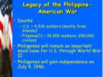 legacy of the philippine american war