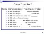 class exercise 1
