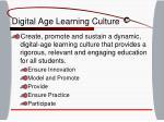 digital age learning culture