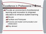 excellence in professional practice