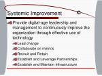 systemic improvement