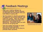 feedback meetings