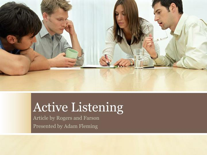 active listening n.