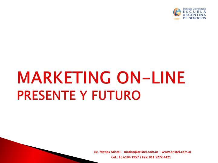 marketing on line presente y futuro n.