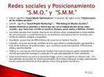 redes sociales y posicionamiento s m o y s m m