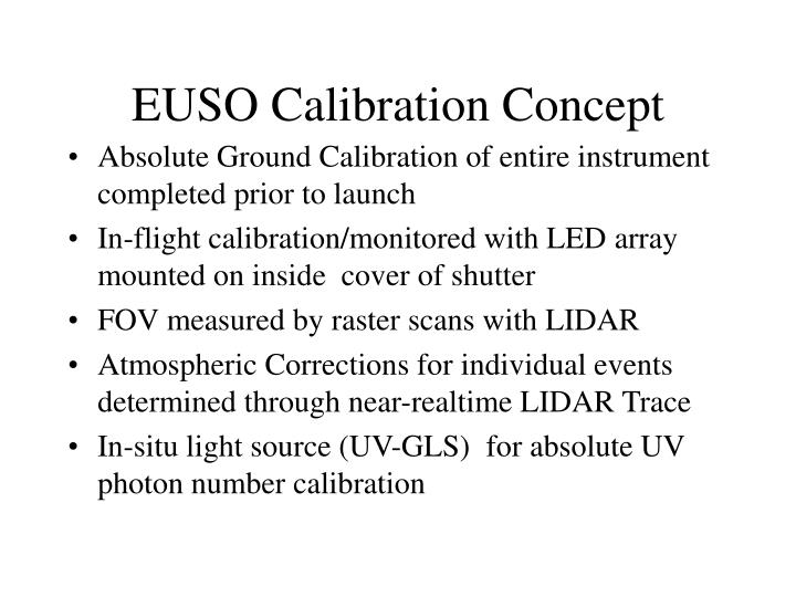 euso calibration concept n.