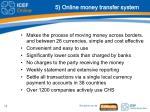 5 online money transfer system