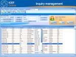 inquiry management