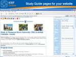 study guide pages for your website