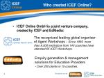 who created icef online