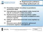 ii organizacyjne podstawy konsultacji spo ecznych c d2