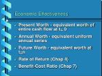 economic effectiveness