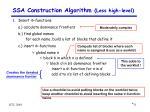ssa construction algorithm less high level2