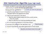 ssa construction algorithm less high level3