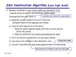 ssa construction algorithm less high level4