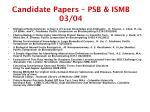 candidate papers psb ismb 03 04