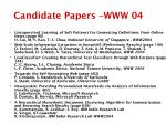 candidate papers www 04