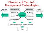 elements of text info management technologies