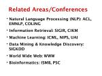 related areas conferences