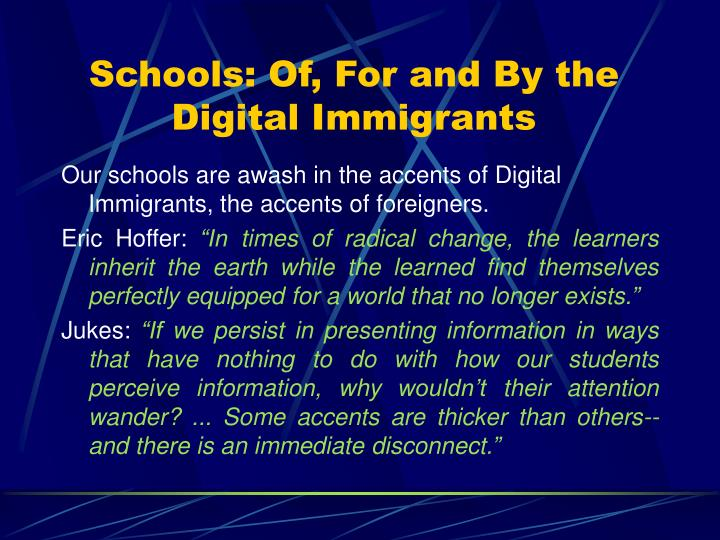 Schools: Of, For and By the