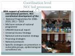 coordination level ncc led processes