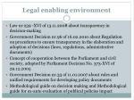 legal enabling environment