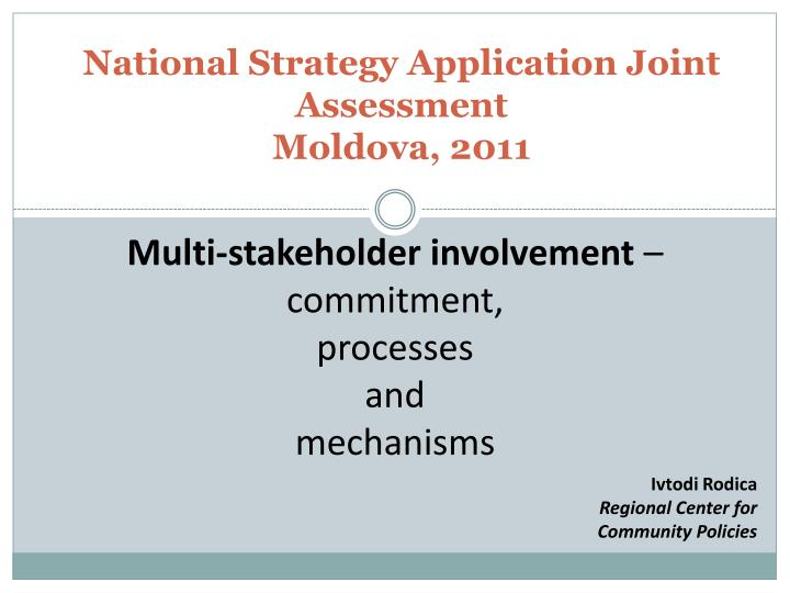 national strategy application joint assessment moldova 2011 n.
