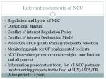 relevant documents of ncc