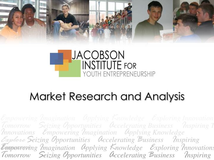 market research and analysis n.
