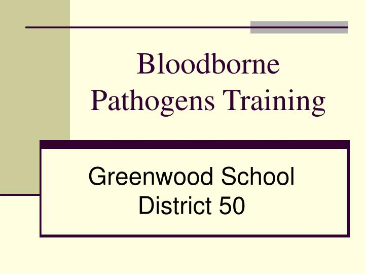 bloodborne pathogens training n.