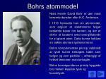 bohrs atommodel