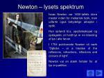newton lysets spektrum