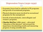 depression years 1930 1939