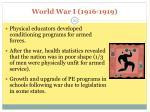 world war i 1916 1919