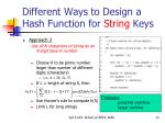 different ways to design a hash function for string keys2