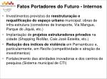 fatos portadores do futuro internos
