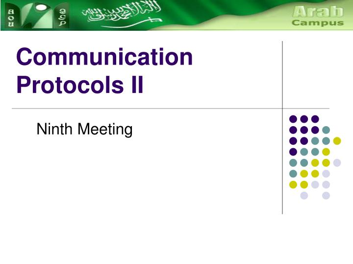 communication protocols ii n.