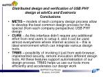distributed design and verification of usb phy design at advico and evatronix conclusions