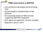 trms achievements in mapper