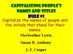 capitalizing people s names and titles rule 1