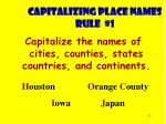capitalizing place names rule 1