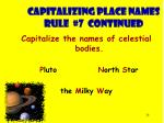 capitalizing place names rule 7 continued