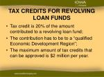 tax credits for revolving loan funds1