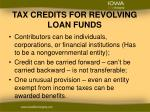 tax credits for revolving loan funds2