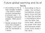 future global warming and its effects