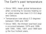 the earth s past temperatures