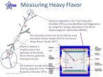measuring heavy flavor