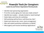 powerful tools for caregivers leader local partner organization planning guide