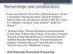 partnerships and collaborators