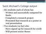 saint michael s college output1